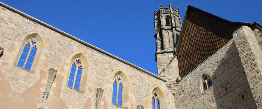 Außenmauer und Turm der Barfüßerkirche