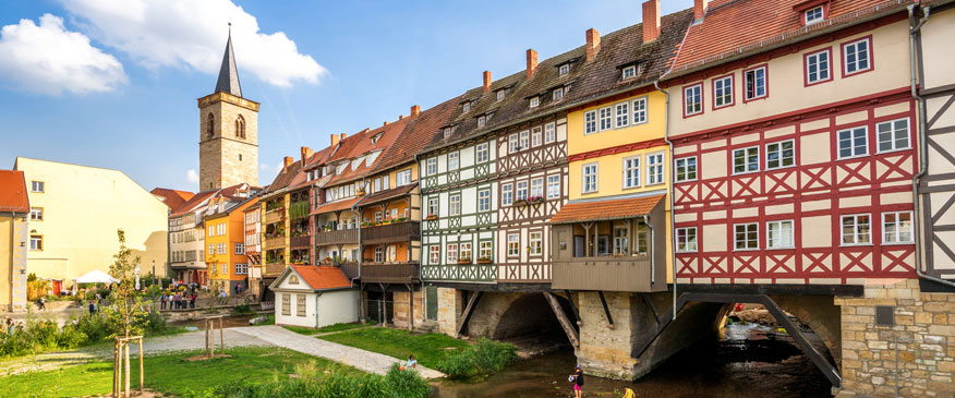Die Krämerbrücke in Erfurt